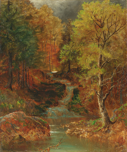 , 'Woodlands Glen with Stream,' , Questroyal Fine Art