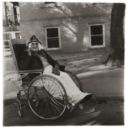 Masked Woman in a Wheel Chair, PA.