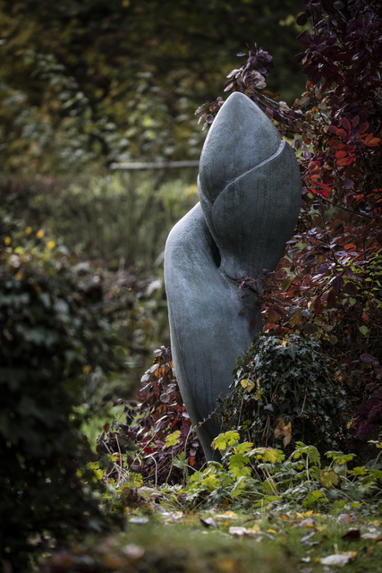 , 'Iris Germanica Bud,' 2014, Guilded