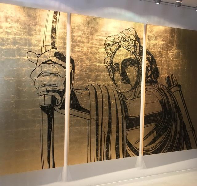 "Alexey Guintovt, '""Apollo"" triptych', 2018, Krokin Gallery"