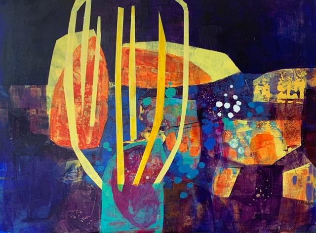 Anna Masiul-Gozdecka, 'Three sources', 2021, Painting, Acrylic on canvas, Gallery Katarzyna Napiorkowska | Warsaw & Brussels