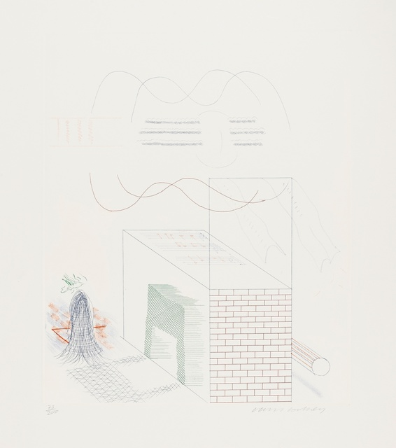David Hockney, 'The Buzzing of The Blue Guitar (Tokyo 185)', 1976-77, Forum Auctions