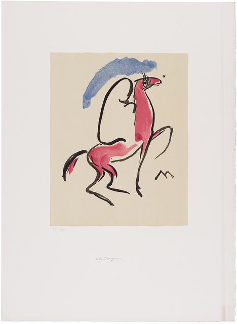 Kees van Dongen, 'CAVALIER ARABE (JUFFERMANS JL 17)', circa  1930, Doyle