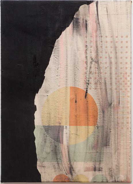 Anna Fro Vodder, 'Thriller (Yet an opening) ', 2013, Textile Arts, Oil and textile on canvas, Andersen's