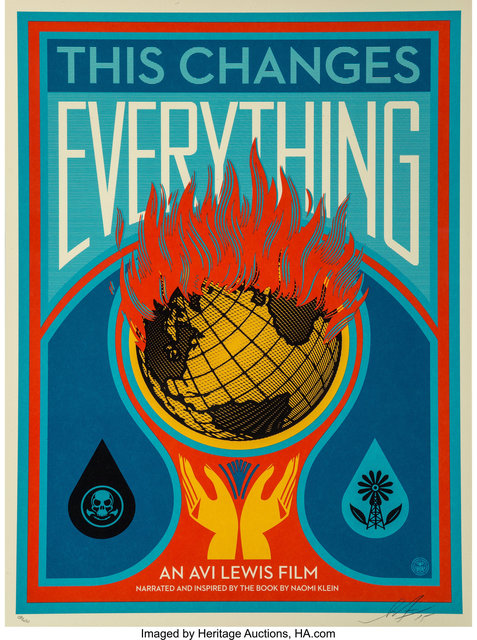 Shepard Fairey (OBEY), 'This Changes Everything', 2015, Heritage Auctions