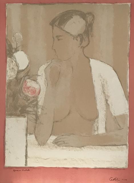 Bernard Cathelin, 'Nu au casaquin blanc et au bouquet', 1974, Artioli Findlay