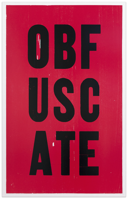 , 'OBFUSCATE,' 2008, Krakow Witkin Gallery