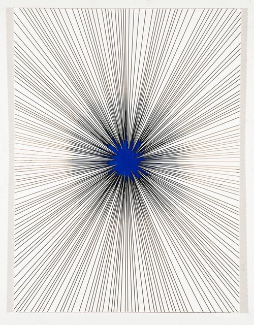 , 'Black Star in Blue,' 2019, Galerie Isabelle Lesmeister