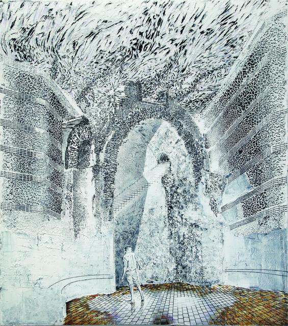 Jörg Lozek, 'wolken', 2015, Painting, Oil, black chalk and graphite, Mimmo Scognamiglio / Placido