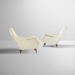 Gio Ponti, 'Rare lounge chairs, pair,' c. 1948, Wright: Design Masterworks