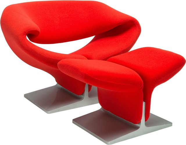 Pierre Paulin (1927-2009), 'Ribbon Chair 582 and Ottoman', Design/Decorative Art, Heritage Auctions