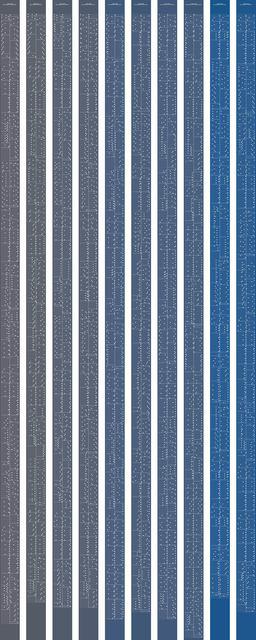 , 'metamorphosis music notation numeral 9,' 2015, Johan Deumens Gallery