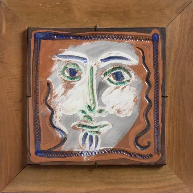 Pablo Picasso, 'VISAGE AUX CHEVAUX BOUCLÉS (A.R. 573)', 1968-69, Doyle