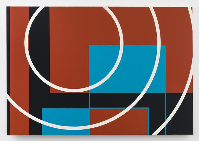 Nassos Daphnis, 'EVOLVING SPHERES - REVERBERATION', 1987, Painting, Enamel on canvas, Richard Taittinger Gallery