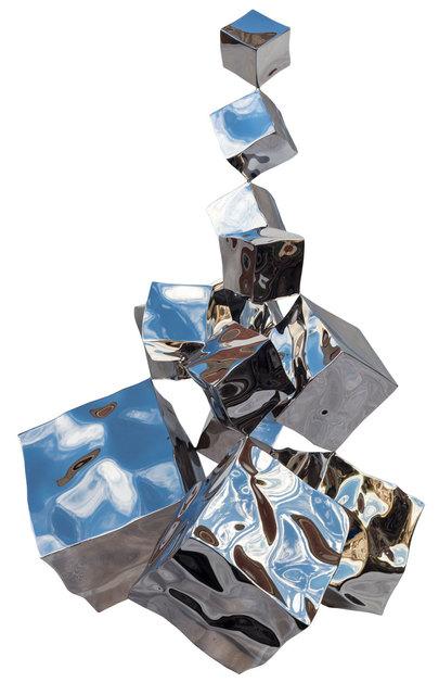 , 'Balancing cubes,' 2018, Pontone Gallery
