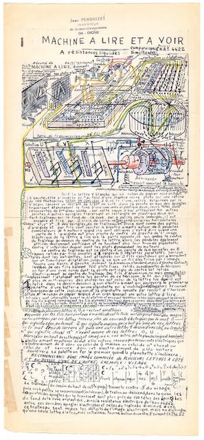 , 'untitled (machine à lire et à voir),' ca. 1970, christian berst art brut