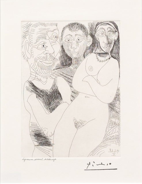 Pablo Picasso, 'Prostitutee et Marins, from the 347 Series', 1968, Leslie Sacks Gallery