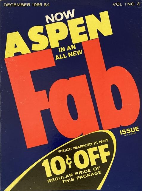 Andy Warhol, 'Andy Warhol Fab! Aspen 1966 (Andy Warhol Aspen Fab)', 1966, Lot 180