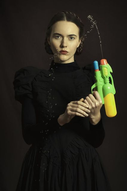 Romina Ressia, 'Woman with a water pistol', 2015, Laurent Marthaler Contemporary