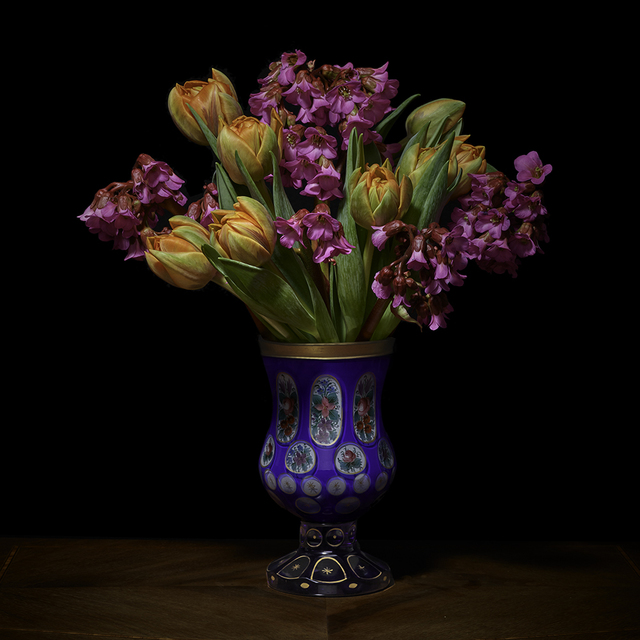 , 'Azaleas and Tulips in a European Vessel,' 2018, Galerie de Bellefeuille