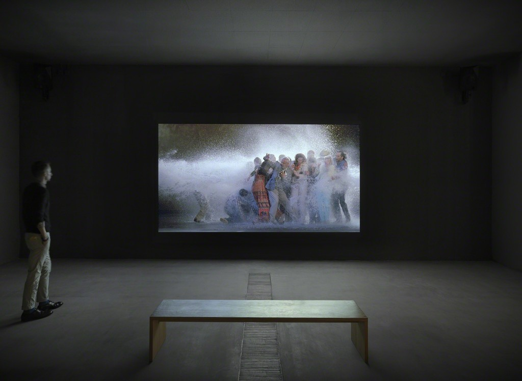 "Installation photo of ""Bill Viola: Transformation,"" Faurschou Foundation, Beijing (2014). Photo by Jonathan Leijonhufvud © Faurschou Foundation"