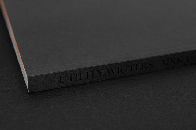 , 'Utility Writers Book,' 2018, Wallplay
