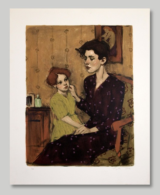 Malcolm T. Liepke, 'A Mother's Touch II', 2002, Print, Silkscreen Lithograph, Approximately Blue