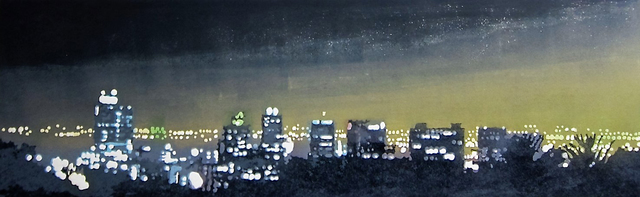 , 'Night Skyline,' 2016, The South African Print Gallery