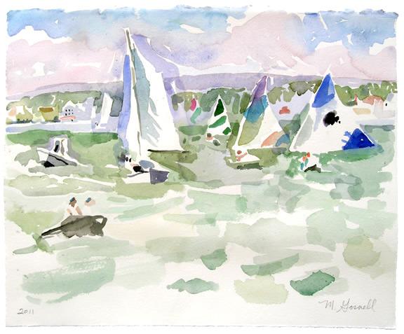 , 'Sailing Lesson, Windy,' 21st Century, George Billis Gallery