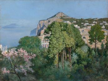 A View of Monte Solaro, Capri (A Capri Villa)