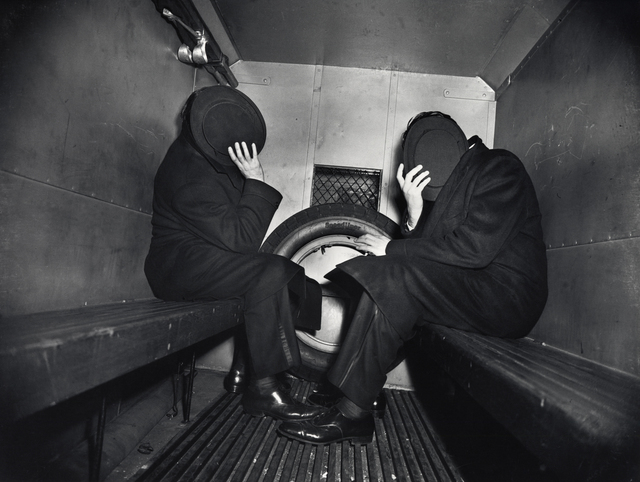 , 'Weegee, Two Offenders in the Paddy Wagon, ,' ca. 1942, The Photographers' Gallery