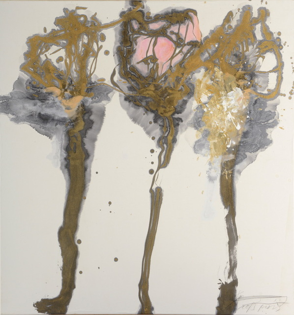 Wei Ligang 魏立刚, 'Plums with golden branches', 2013, Gallery Francoise Livinec