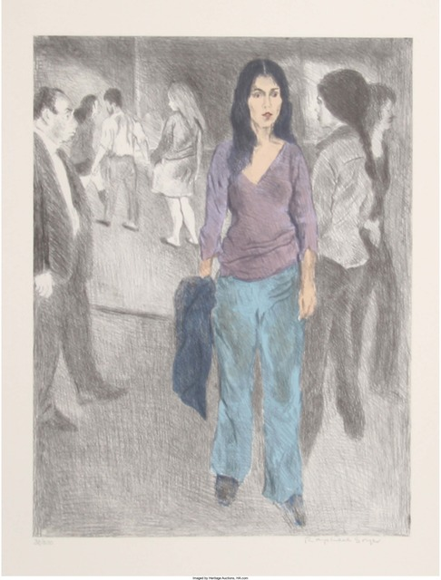 Raphael Soyer, 'Passing By (Street Scene #3)', circa 1975, Print, Lithograph in colors, Heritage Auctions