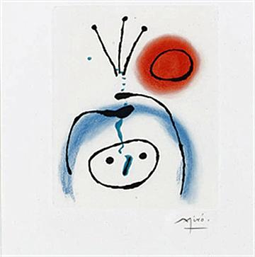 Joan Miró, 'Suite La Bague D'Aurore - plate 1', 1957, Galerie Maximillian