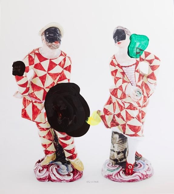 Markus Hanakam & Roswitha Schuller, 'A Pair of Doccia Figures of Harlequin and Columbine', 2016, Galerie Krinzinger