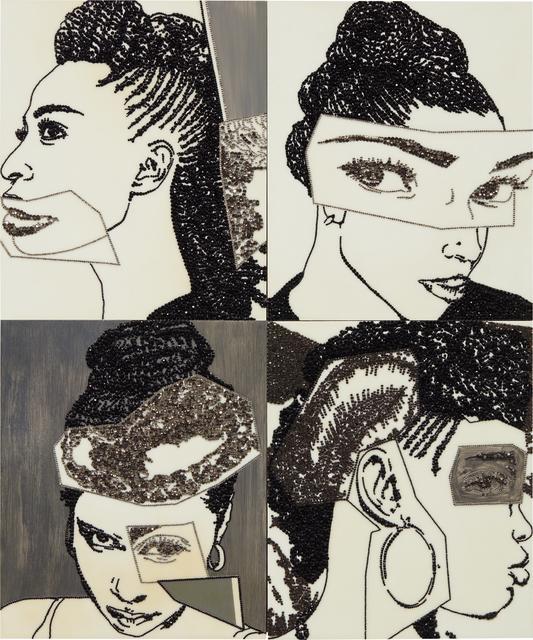 Mickalene Thomas, 'Hair Portrait 16', 2013, Phillips