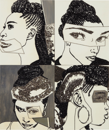 Mickalene Thomas, 'Hair Portrait 16,' 2013, Phillips: 20th Century and Contemporary Art Day Sale (November 2016)