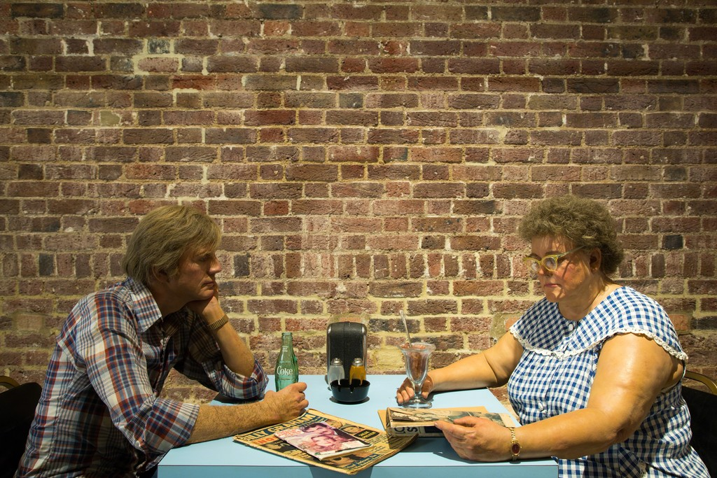"Duane Hanson, ""Self-Portrait with Model"" (1979). Serpentine Sackler Gallery. Courtesy © Luke Hayes."