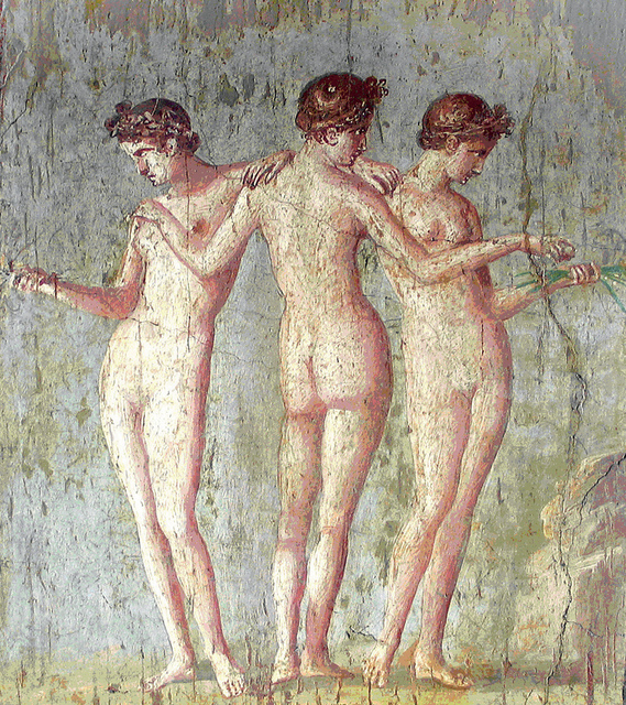 , 'Fresco of the Three Graces,' , Montreal Museum of Fine Arts