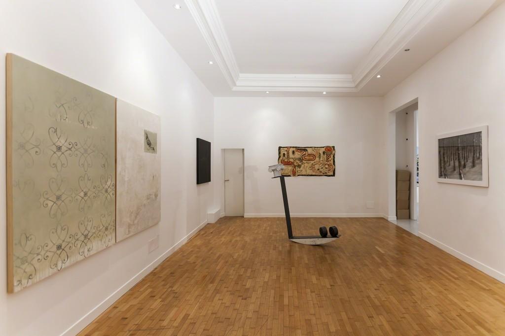 Installation view Alessandro Procaccioli, Emmanuele De Ruvo, Simone Pellegrini e Lucilla Candeloro — presso Montoro12 Contemporary Art