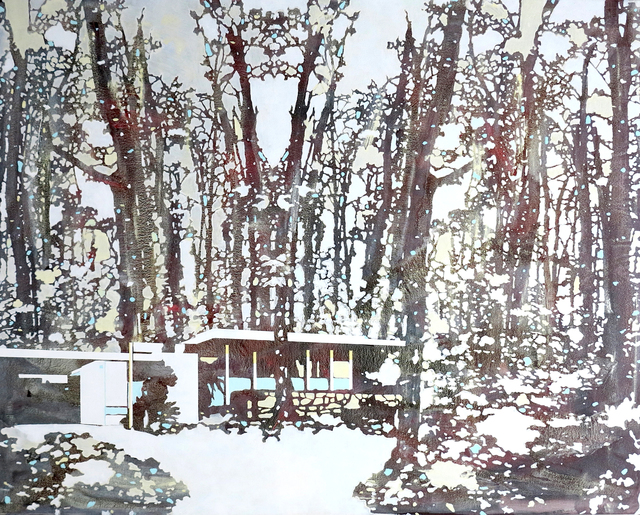 Paul Davies, 'Red & White Forest (landscape) ', 2014, The Fine Art Society