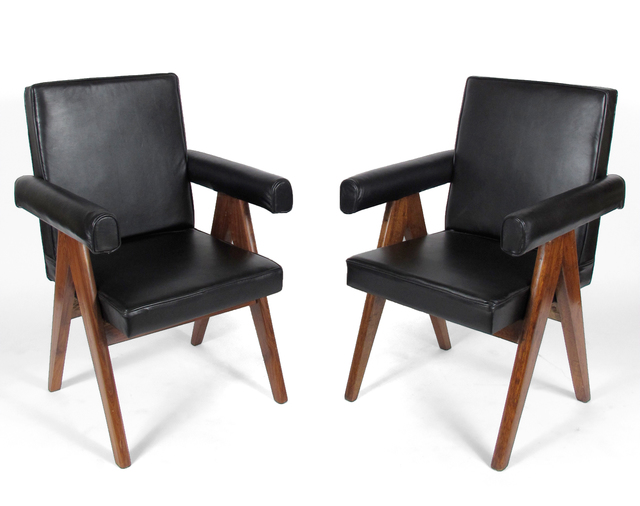 Pierre Jeanneret, 'Leather Armchairs', 1952-1956, Patrick Parrish Gallery
