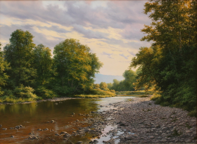 , 'Where Peaceful Waters Flow,' 2018, The Guild of Boston Artists