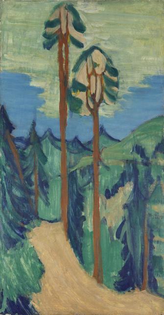 , 'Hohe Kiefern vor Hügellandschaft ,' 1921-1923, Henze & Ketterer