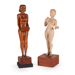 Two Folk Sculpture Nudes
