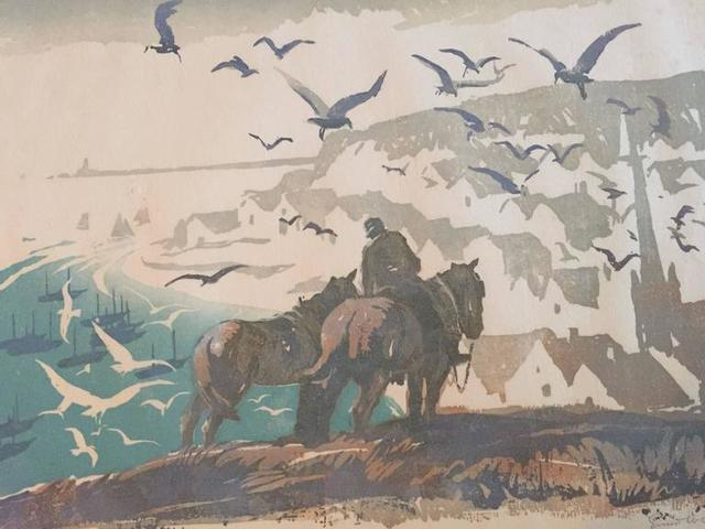 Ernest W Watson, 'Cornish Fishing Village', 20th Century, Lions Gallery