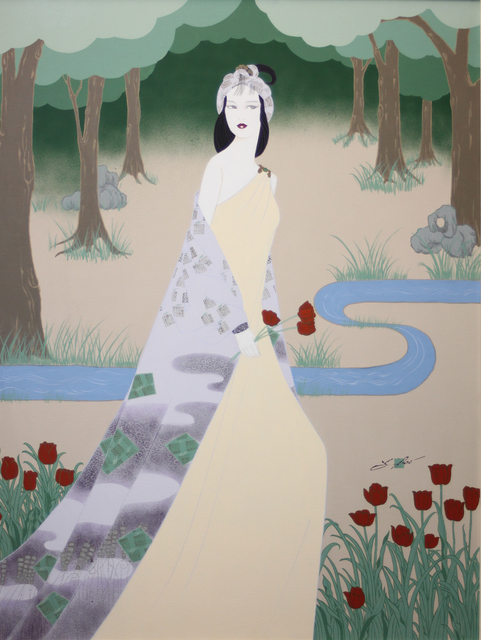 Lilian Shao, 'Woman with Red Tulips', 1985-1999, EastCoastArt