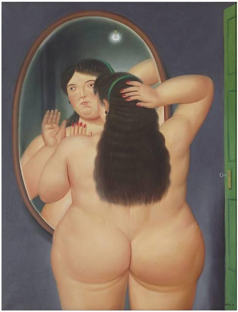 , 'Woman in front of a mirror,' 1986, Galería La Cometa
