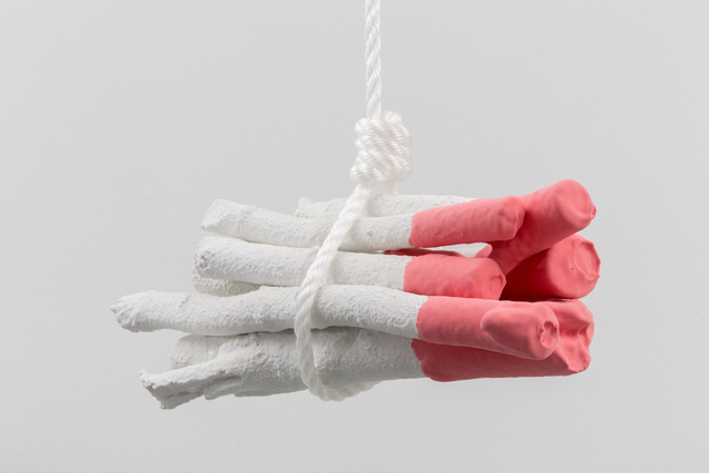 , 'Untitled (Swinging Bundle Stucco),' 2018, Hamiltonian Gallery