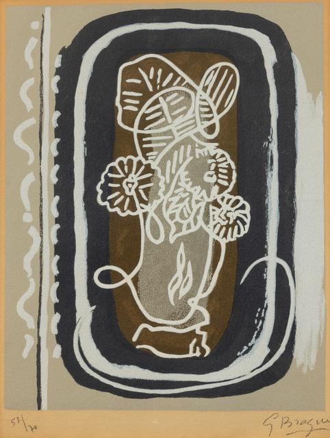 Georges Braque, 'Bouquet des fleurs blanches from Si je mourais là-bas', 1962, Hindman